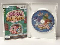 Kirby's Epic Yarn Nintendo Wii Game Complete With Manual