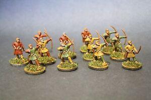 Gripping Beast Saga Swordpoint 12 x Dark Age Archers Painted Saxon 28mm
