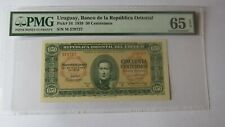 More details for pmg certified uruguay 1939 50 centesimos banknote. pmg 65epq. pick #34.