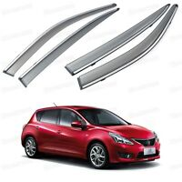 Window Visor Vent Shade Rain/Sun/Wind Guard for Nissan Pulsar 2011-2014 12 13