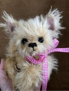 Tiny Tina Chihuahua Dog, pattern, Mohair bear, Alaine Ferreira, Bearflair
