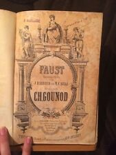 Charles Gounod Faust Partition chant piano ancienne reliée éditions Choudens