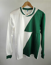 Vintage Green White Cheerleading Shirt L/S Pullover Made in USA Size M Free Ship