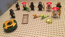 Lego 8 Ninjago Mini Figures / Ninja / Weapons / Sword / 1 Battle Spinner