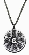 "DC Comics The Green Lantern Series Power Ring Runic Necklace with 20"" Chain"