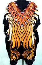 Stunning Kaftan,One Size Plus Beach wear Caftan Dress Short Mini dress Poncho