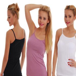 TIARA GALIANO Women's Cotton Vest Thin Strap 1206UK Tank top