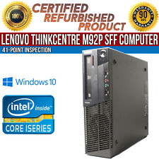 Lenovo ThinkCentre M92p SFF Intel i5 4 GB RAM 500 GB HDD Win 10 B Grade Desktop