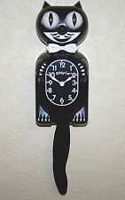 Kitty cat Horloge, le plus petit mignon Kit Cat Clock, Noir Pendule murale Klock.