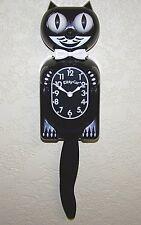 KITTY Cat Clock, il più piccolo più carino KIT Gatto Orologio, Parete a Pendolo Nero Klock.