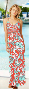 NWT Trina Turk Garden Bloom Maxi Dress Swimsuit Cover Up Spa Collection $172