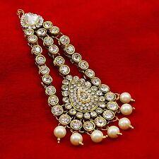 Wedding Indian Silvertone Passa Head Piece Accessory Matha Patti Tikka Jewelry