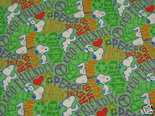 Peanuts Snoopy Recycle Conserve Flannel Fabric - 1 Yard