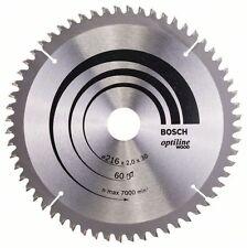BOSCH Optiline bois Lame scie circulaire 216x30x60 2608640433