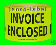 HE3504Y, 500 3x5 Invoice Enclosed Label/Sticker