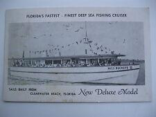 c1950 MISS BUCKEYE III CLEARWATER BEACH, FLORIDA POSTCARD