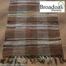 CHINDI CHECK FAIR TRADE INDIAN RAG RUG 60 x 90cm (2' x 3') Cotton...