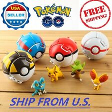 4 x Pokemon Throw Pop Poke Ball Cosplay Pop-up Elf Go Fighting Toy ❶FAST SHIP❶