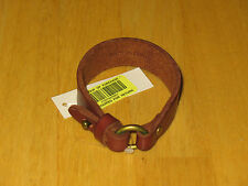 Polo Ralph Lauren Men's Brown Leather Bracelet with Brass Ring New w/ Tags!