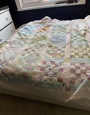 Vintage Handmade Patchwork Quilt Kingsize