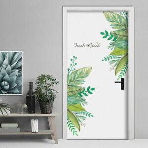 50*70cm Removable Leaves Wall Sticker Waterproof Decal Door Room Art Decor