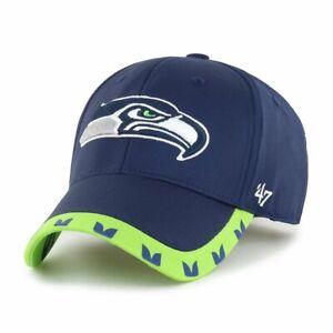 Seattle Seahawks NFL 47 MVP Adjustable Cap Hat Football Men's Hawks Wing Pattern