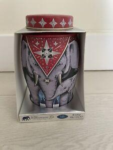 Williamson Elephant tea caddy tin. Winter Star Edition BNIB