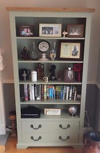 Solid Wood Bookcase /  Display Cabinet - Available in other sizes and colours