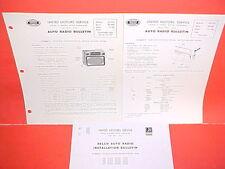 1954 1955 BUICK ROADMASTER SUPER UNITED MOTORS DELCO GM RADIO SERVICE MANUAL P