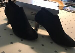 Gabor black suede boot / shoe size 7.5