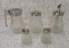 Vintage HONG KONG S&P Oil/Vinegar Syrup Spices/Cheese/Sugar Shaker Condiment Set