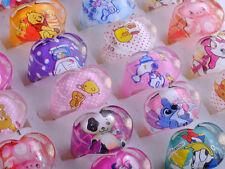 20Pcs Wholesale Mixed Lots Cute Cartoon Children/Kids Resin Lucite Rings New