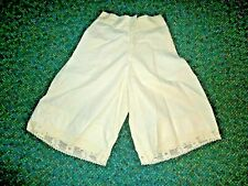 vintage Homemade White Petticoat Pantaloons that are in good used shape - NR