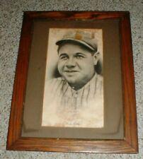 New York Yankees BABE RUTH Wilbur Gonterman Framed Art Print