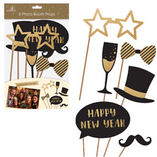 New Years Eve - Party Fun Photo Booth Posing Props - Selfie Fun - Pack of 6