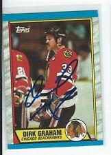 Dirk Graham Signed 1989/90 Topps Card #52