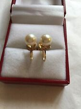Mikimoto non pierce akoya pearl 7mm earring Gold
