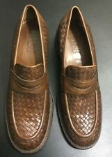 Bass Clovis Women's Loafer Slip on Woven Chunky Brown Shoes Size 8.5M