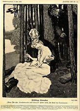 """Paul Rieth Frühlings Erwachen """"Wenn Ihr hier konserv...Politische Karikatur 1907"""
