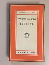 Lettere di Katherine Mansfield I grandi narratori d'ogni paese 12 Mondadori 1941