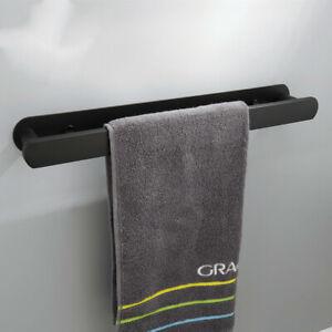 Bathroom Black/Brushed Towel Bar 304 Stainless Steel Wall 3M Mounted Towel Rail