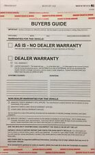 Buyers Guides As Is No Warranty / Warranty Auto Sales, 8250-17•100 Qty(T10RACK)