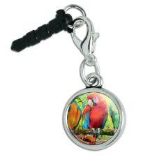 Colorful Tropical Rainforest Parrots Mobile Cell Phone Headphone Jack Charm