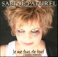 SABINE PATUREL - JE ME FOUS DE TOUT - PROMO CD SINGLE CARDSLEEVE