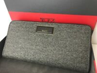 Tumi Women's Wallet Continental Zip Around Clutch Purse Earl Grey Sinclair RFID