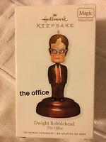 Hallmark Keepsake Ornament Dwight Shrute Bobblehead, The Office, With Sound,NIB.