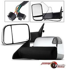 2010-2012 Ram 2500 3500 Power Heated Towing Mirror+Signal PUddle Lamp Chrome