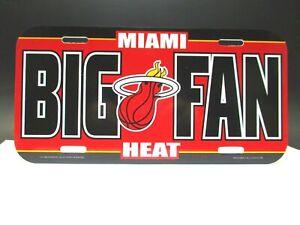 Miami Heat License Plate Plastic Sign 11 13/16in, NBA Basketball