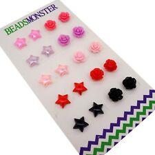 Magnetic Clip On Earrings, Rose / Star Gift for Teen Girls Womens Kids Friend