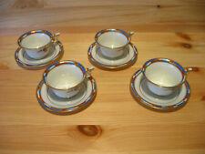 4 St Rosenthal TIRANA Moccatassen/Espresso + Untere ;  Selb / Bavaria, Art Deco